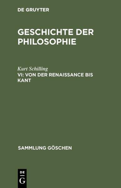 Von der Renaissance bis Kant als Buch von Kurt ...