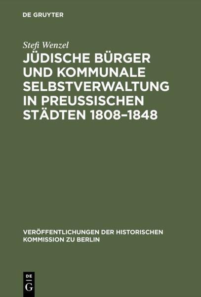 Jüdische Bürger und kommunale Selbstverwaltung ...