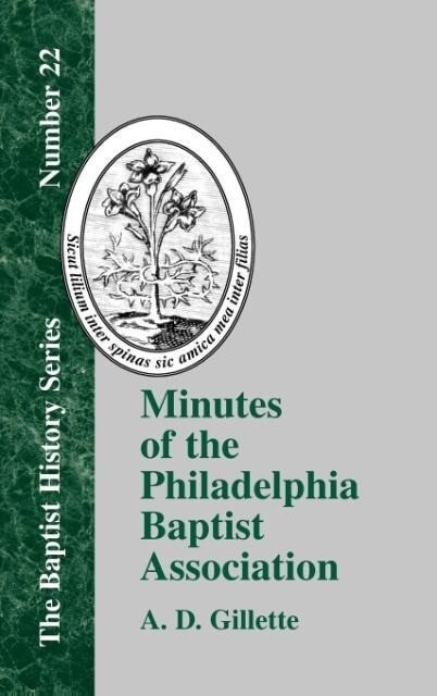 Minutes of the Philadelphia Baptist Association als Buch