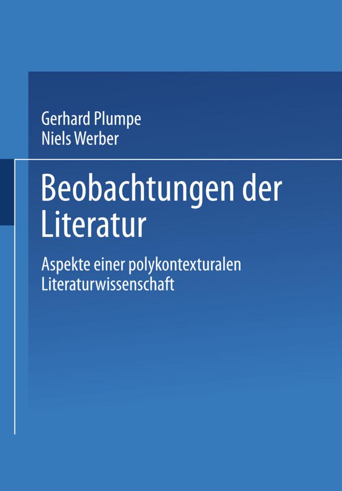 Beobachtungen der Literatur als Buch von Gerhar...