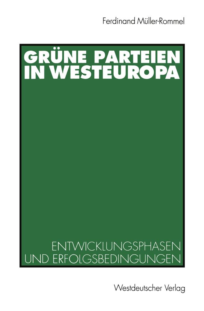 Grüne Parteien in Westeuropa als Buch von Ferdi...