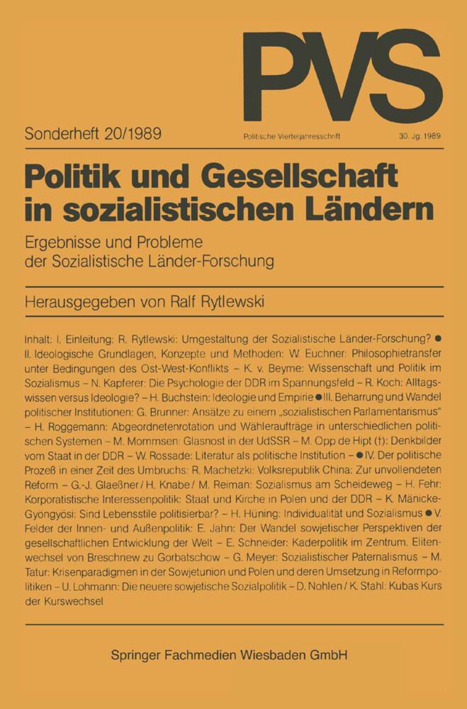 Politik und Gesellschaft in sozialistischen Län...