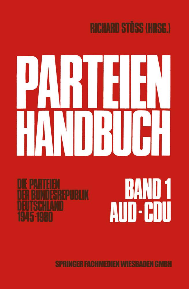 Parteien-Handbuch als Buch von Richard Stöss