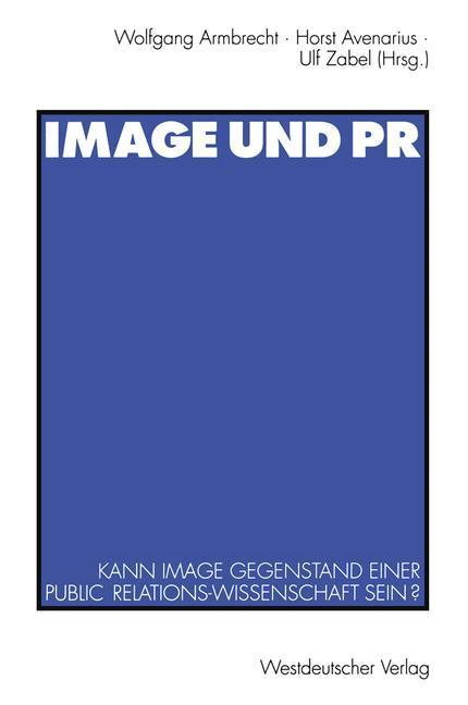 Image und PR als Buch von