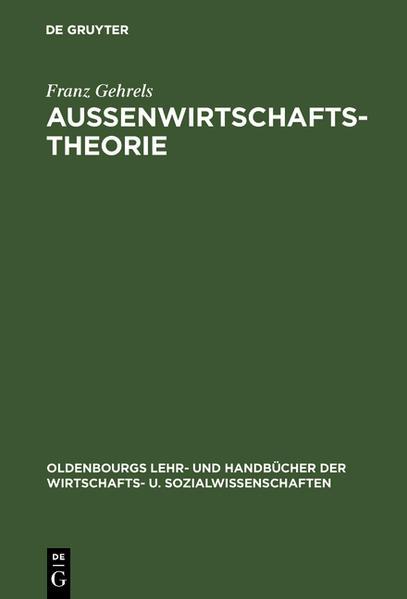 Außenwirtschaftstheorie als Buch