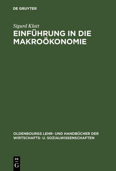 Einführung in die Makroökonomie als Buch