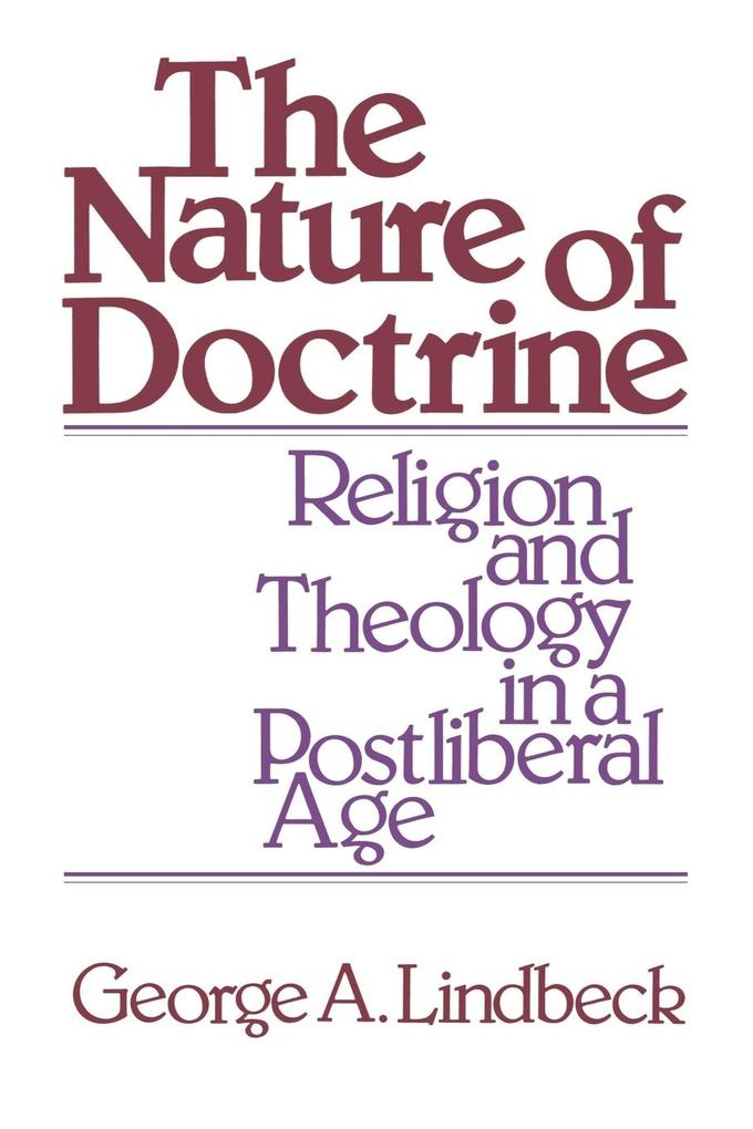 The Nature of Doctrine als Buch