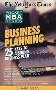 Business Planning: 25 Keys to a Sound Business Plan