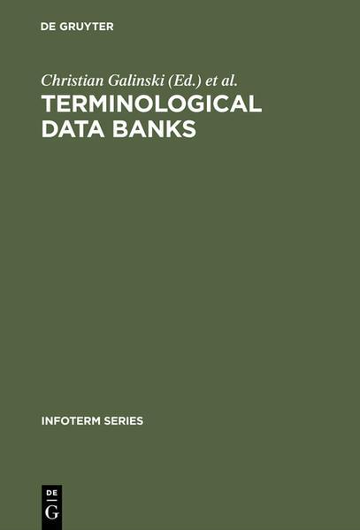 Terminological data banks als Buch von