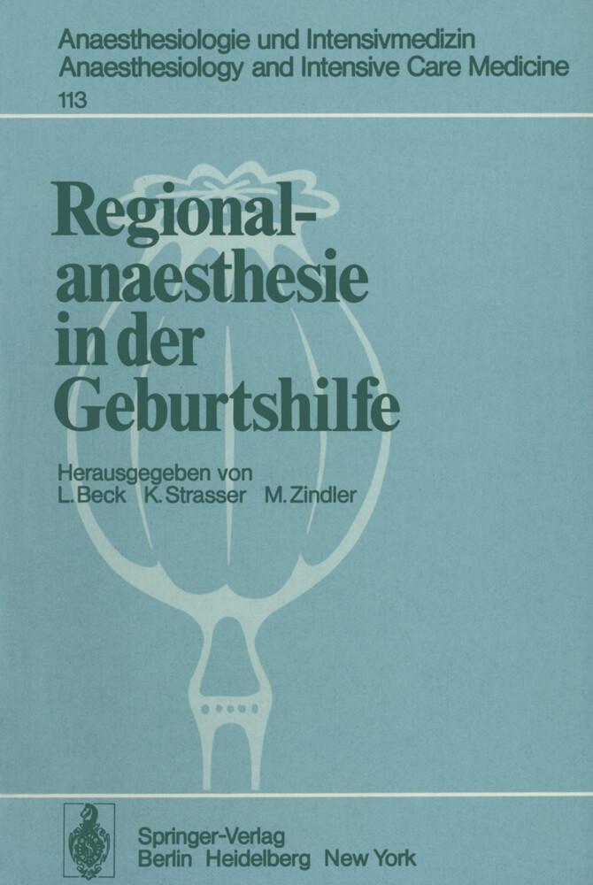 Regionalanaesthesie in der Geburtshilfe als Buc...