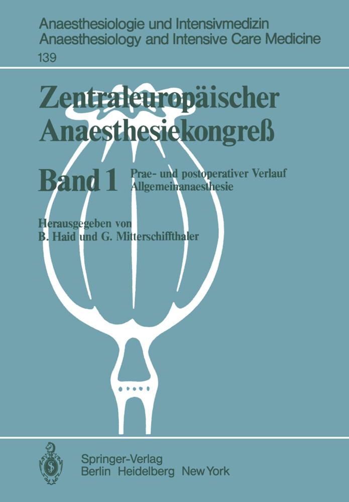 Zentraleuropäischer Anaesthesiekongre? als Buch...