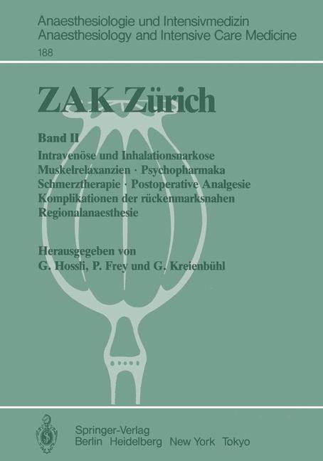 ZAK Zürich als Buch von