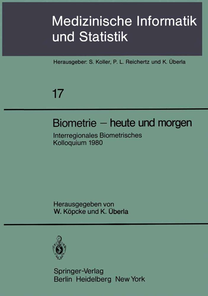 Biometrie - heute und morgen als Buch von