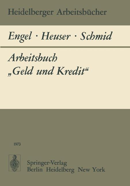 Arbeitsbuch Geld und Kredit als Buch von B. Eng...