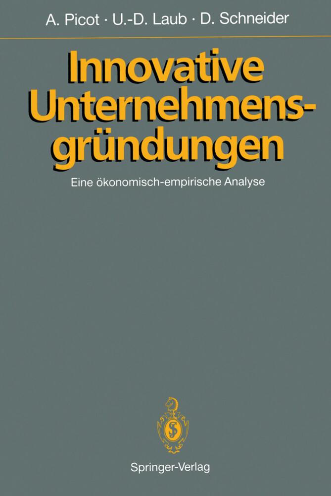Innovative Unternehmensgründungen als Buch von ...