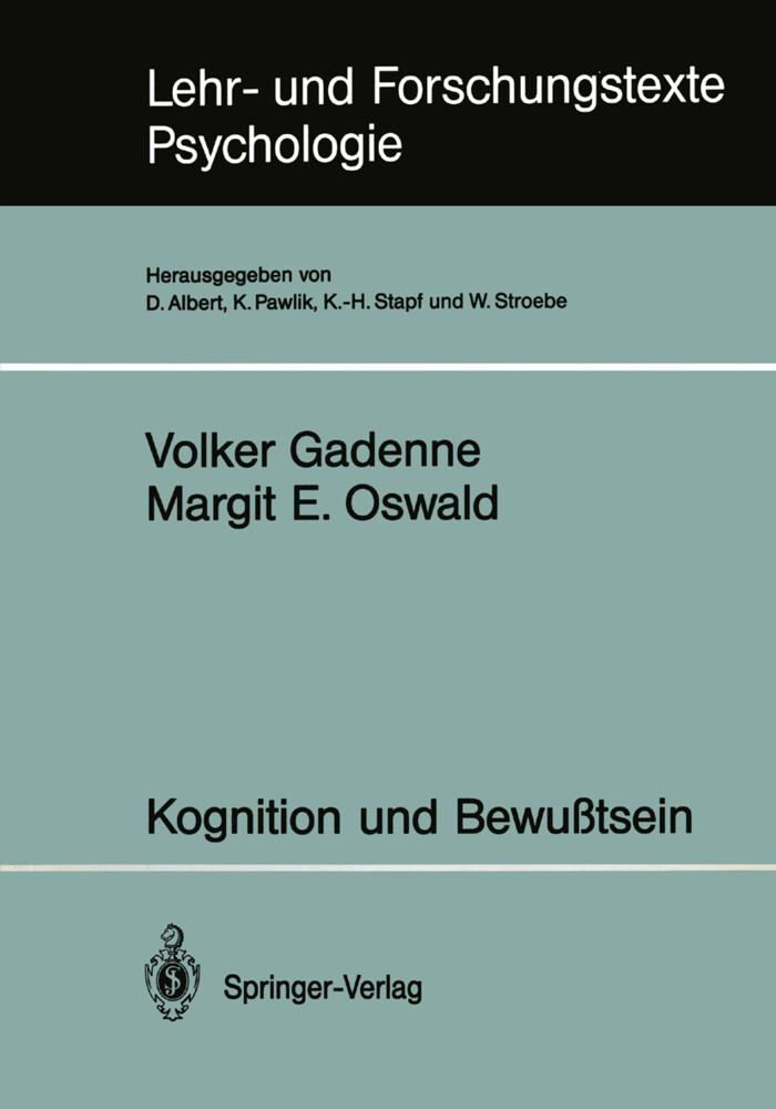 Kognition und Bewußtsein als Buch von Volker Ga...