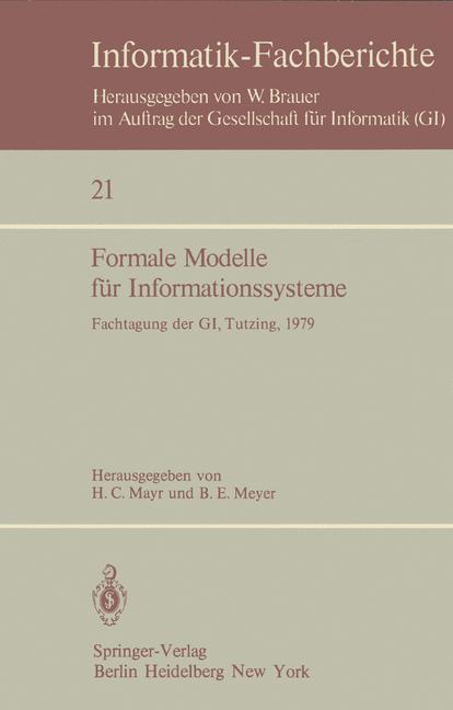 Formale Modelle für Informationssysteme als Buc...