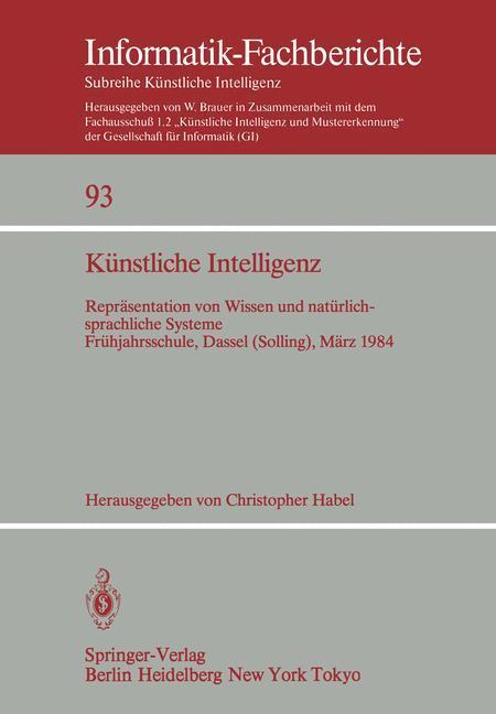 Künstliche Intelligenz als Buch von Christopher...