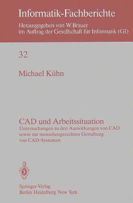 CAD und Arbeitssituation als Buch von M. Kühn