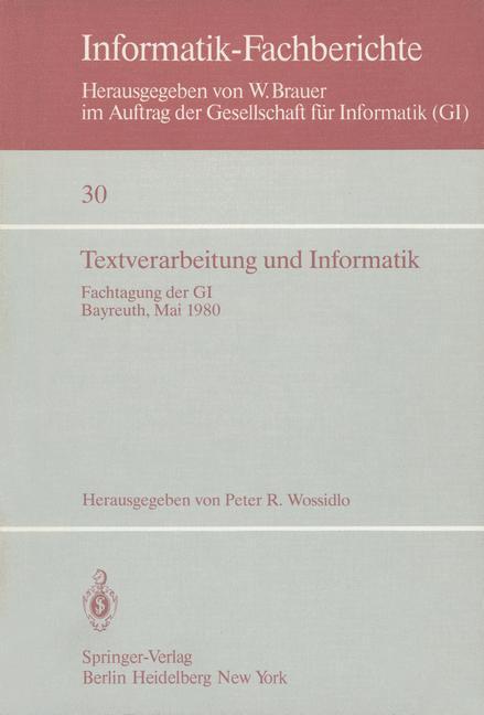 Textverarbeitung und Informatik als Buch von