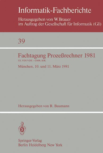 Fachtagung Prozeßrechner 1981 als Buch von