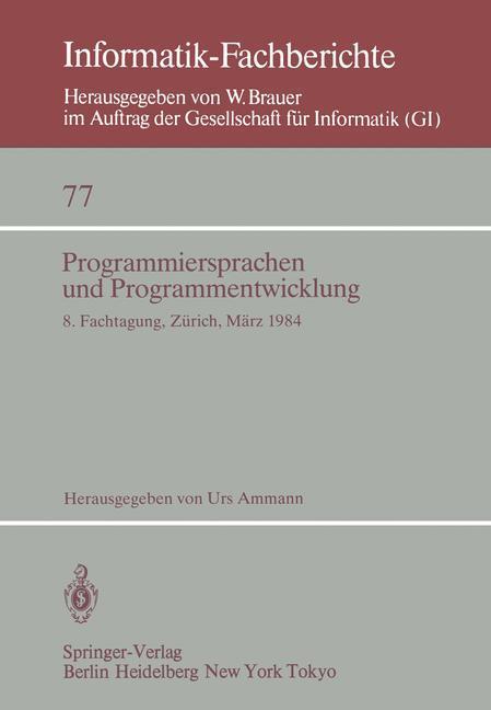 Programmiersprachen und Programmentwicklung als...