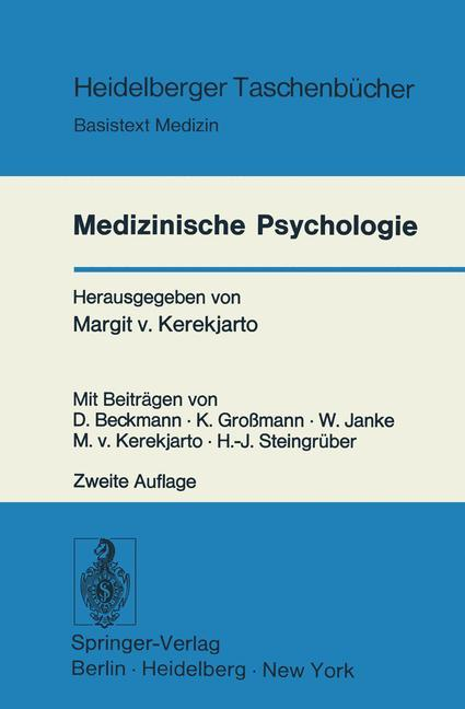 Medizinische Psychologie als Buch von