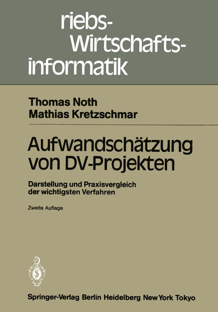 Aufwandschätzung von DV-Projekten als Buch von ...