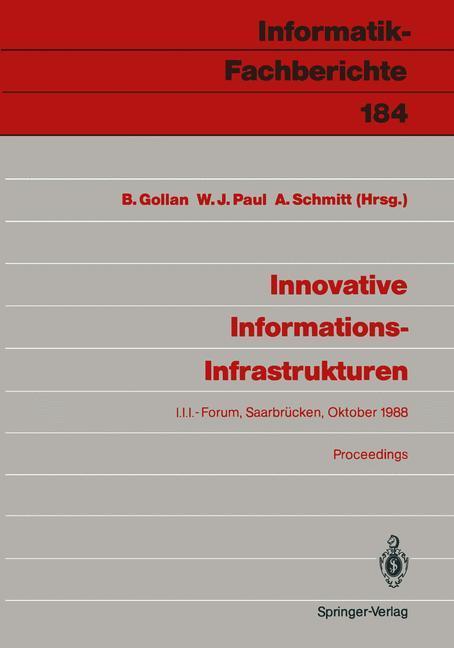 Innovative Informations-Infrastrukturen als Buc...