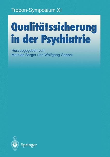 Qualitätssicherung in der Psychiatrie als Buch von