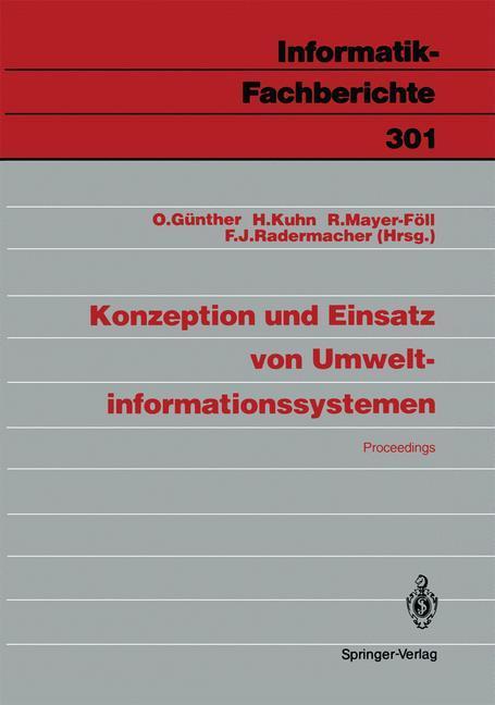 Konzeption und Einsatz von Umweltinformationssy...