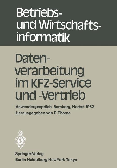 Datenverarbeitung im KFZ-Service und -Vertrieb ...