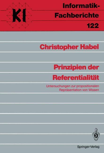 Prinzipien der Referentialität als Buch von Chr...