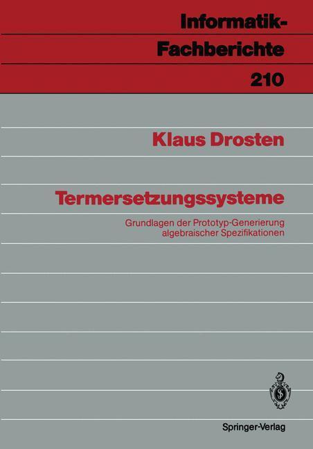 Termersetzungssysteme als Buch von Klaus Drosten