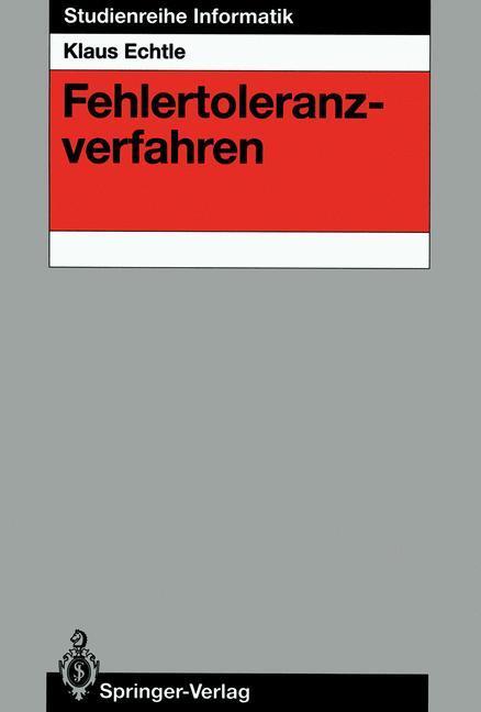 Fehlertoleranzverfahren als Buch von Klaus Echtle