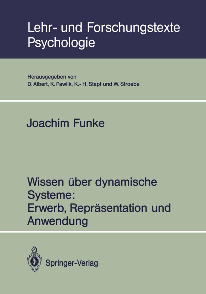Wissen über dynamische Systeme: Erwerb, Repräse...