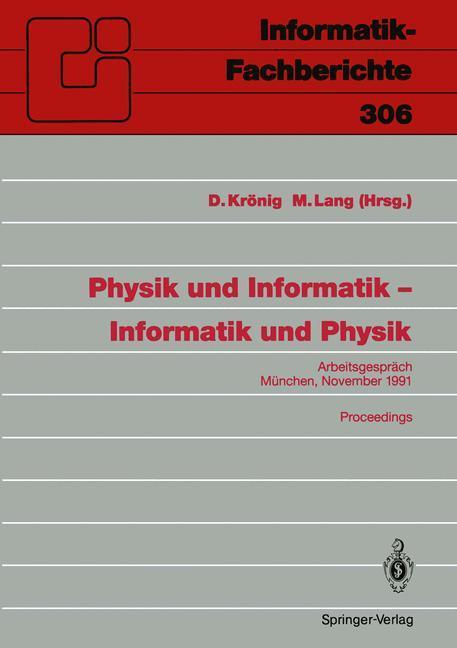 Physik und Informatik - Informatik und Physik a...