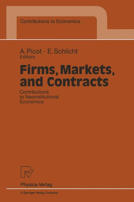 Firms, Markets, and Contracts als Buch von