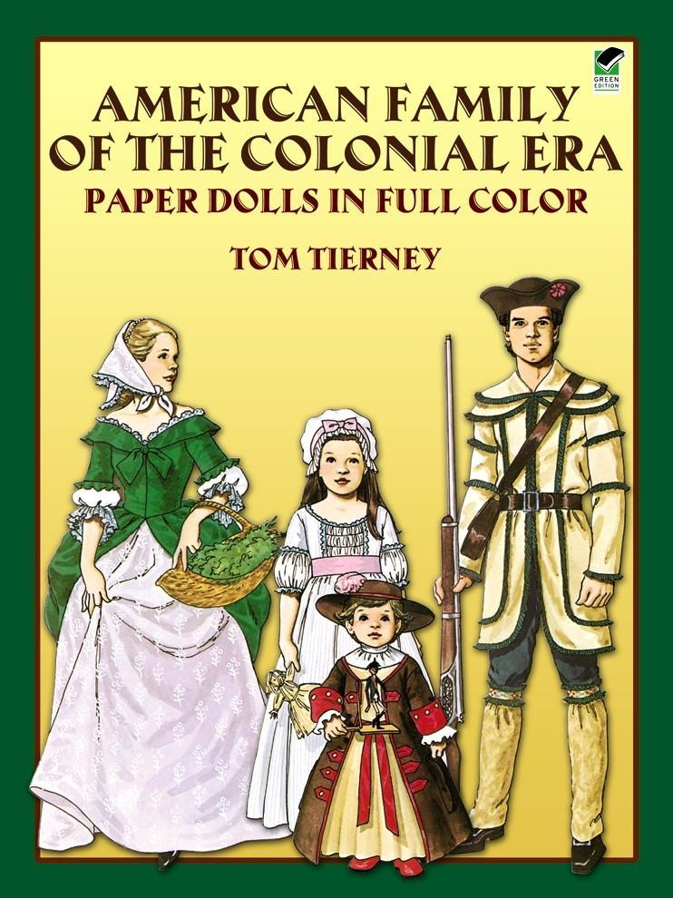 American Family of the Colonial Era Paper Dolls in Full Color als Taschenbuch