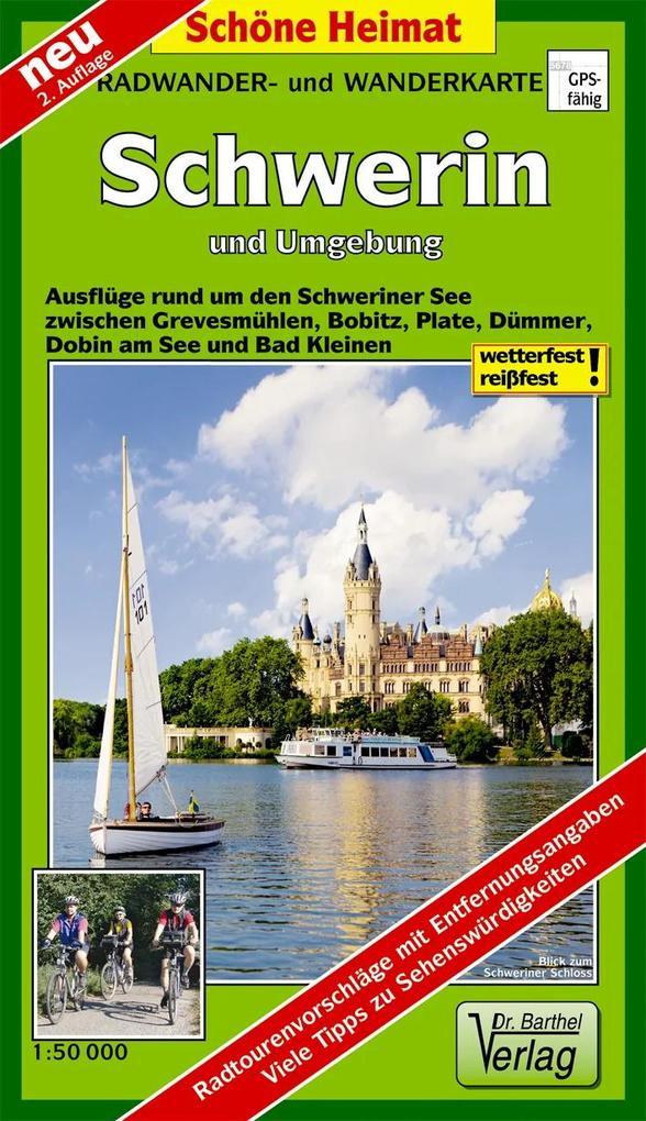 Schwerin und Umgebung Radwander- und Wanderkart...