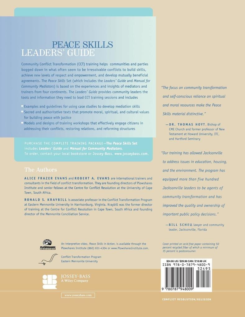 Peace Skills Leaders Guide als Taschenbuch