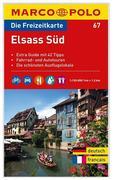 MARCO POLO Freizeitkarte 67 Elsass Süd 1 : 120 000