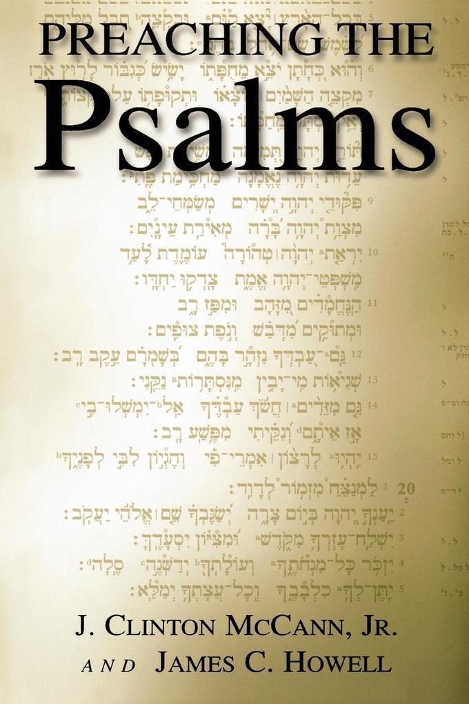 Preaching the Psalms als Taschenbuch