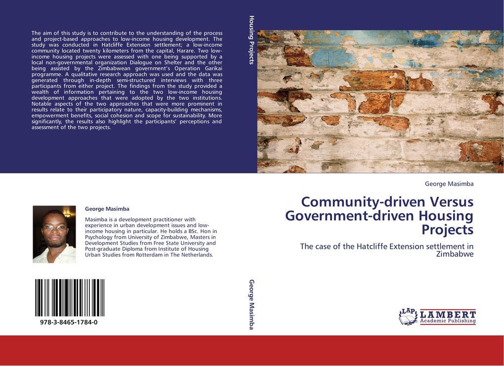 Community-driven Versus Government-driven Housi...
