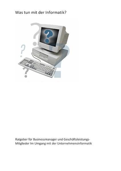 Was tun mit der Informatik? als Buch von Helmut...