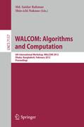 WALCOM: Algorithm and Computation