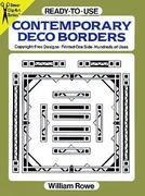 Ready-To-Use Contemporary Deco Borders