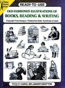 Ready-To-Use Old-Fashioned Illustrations of Books, Reading and Writing