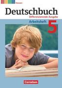 Deutschbuch 5. Schuljahr. Arbeitsheft mit Lösungen. Differenzierende Ausgabe Hessen