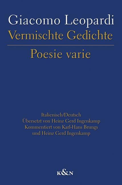 Vermischte Gedichte Poesie varie als Buch von G...